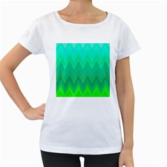 Zig Zag Chevron Classic Pattern Women s Loose Fit T Shirt (white)