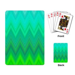 Zig Zag Chevron Classic Pattern Playing Card