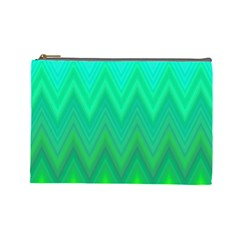 Zig Zag Chevron Classic Pattern Cosmetic Bag (large)