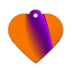 Lines Network The Ribbon Red Dog Tag Heart (two Sides)