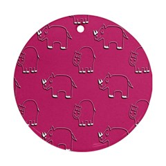 Rhino Pattern Wallpaper Vector Ornament (round)