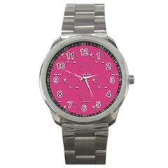 Rhino Pattern Wallpaper Vector Sport Metal Watch