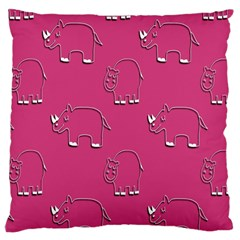 Rhino Pattern Wallpaper Vector Large Cushion Case (one Side)