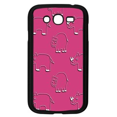 Rhino Pattern Wallpaper Vector Samsung Galaxy Grand Duos I9082 Case (black)