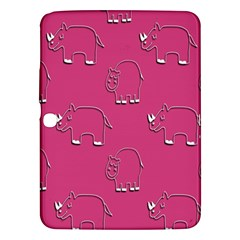 Rhino Pattern Wallpaper Vector Samsung Galaxy Tab 3 (10 1 ) P5200 Hardshell Case