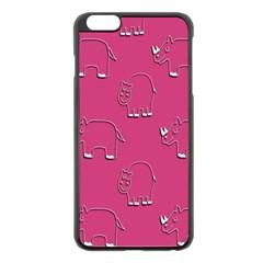 Rhino Pattern Wallpaper Vector Apple Iphone 6 Plus/6s Plus Black Enamel Case