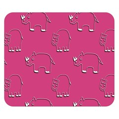 Rhino Pattern Wallpaper Vector Double Sided Flano Blanket (small)