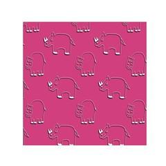 Rhino Pattern Wallpaper Vector Small Satin Scarf (square)