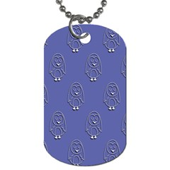 Owl Pattern Wallpaper Vector Dog Tag (one Side)