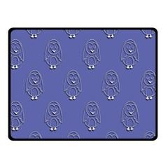 Owl Pattern Wallpaper Vector Double Sided Fleece Blanket (small)
