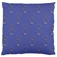Owl Pattern Wallpaper Vector Large Flano Cushion Case (two Sides)