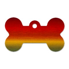 Ombre Dog Tag Bone (two Sides)