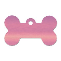 Ombre Dog Tag Bone (one Side)
