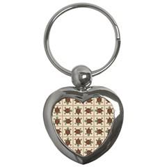 Native American Pattern Key Chains (heart)
