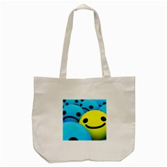 Smile Blue Yellow Bright  Tote Bag (cream)