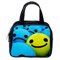 Smile Blue Yellow Bright  Classic Handbags (one Side)