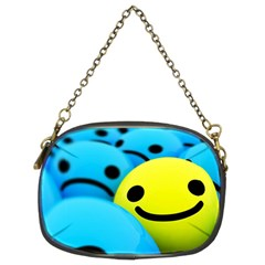 Smile Blue Yellow Bright  Chain Purses (two Sides)