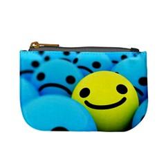 Smile Blue Yellow Bright  Mini Coin Purses