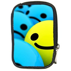 Smile Blue Yellow Bright  Compact Camera Cases