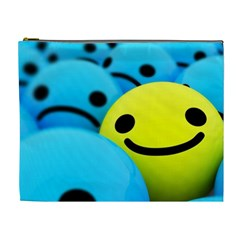 Smile Blue Yellow Bright  Cosmetic Bag (xl)