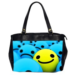 Smile Blue Yellow Bright  Office Handbags (2 Sides)