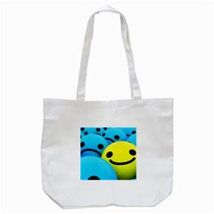 Smile Blue Yellow Bright  Tote Bag (white)