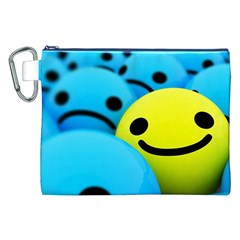 Smile Blue Yellow Bright  Canvas Cosmetic Bag (xxl)