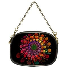 Rainbow Flower Spiral Fractal Chain Purses (one Side)