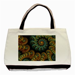Spiral Background Patterns Lines Woven Rotation Basic Tote Bag