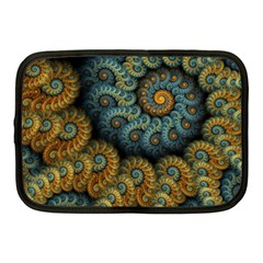 Spiral Background Patterns Lines Woven Rotation Netbook Case (medium)