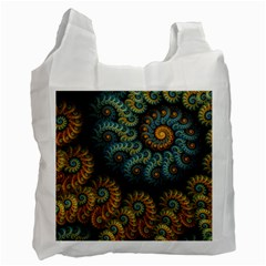 Spiral Background Patterns Lines Woven Rotation Recycle Bag (two Side)