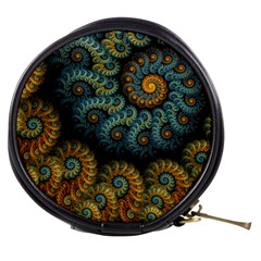 Spiral Background Patterns Lines Woven Rotation Mini Makeup Bags