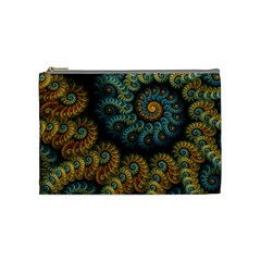 Spiral Background Patterns Lines Woven Rotation Cosmetic Bag (medium)