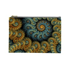 Spiral Background Patterns Lines Woven Rotation Cosmetic Bag (large)