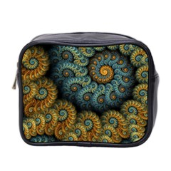 Spiral Background Patterns Lines Woven Rotation Mini Toiletries Bag 2 Side