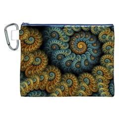 Spiral Background Patterns Lines Woven Rotation Canvas Cosmetic Bag (xxl)