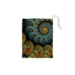 Spiral Background Patterns Lines Woven Rotation Drawstring Pouches (xs)