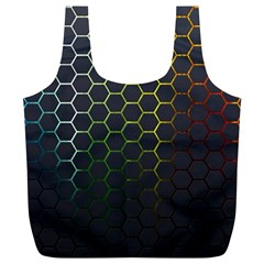 Abstract Resize Full Print Recycle Bags (l)