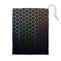 Abstract Resize Drawstring Pouches (extra Large)