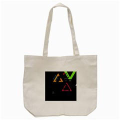 Abstract Triangles Resize Tote Bag (cream)
