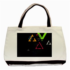 Abstract Triangles Resize Basic Tote Bag