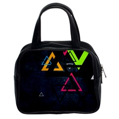 Abstract Triangles Resize Classic Handbags (2 Sides)
