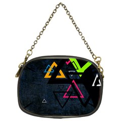 Abstract Triangles Resize Chain Purses (two Sides)