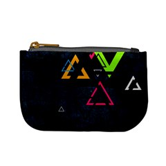 Abstract Triangles Resize Mini Coin Purses