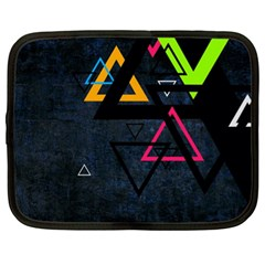 Abstract Triangles Resize Netbook Case (xl)