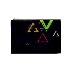 Abstract Triangles Resize Cosmetic Bag (medium)