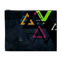 Abstract Triangles Resize Cosmetic Bag (xl)