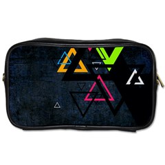 Abstract Triangles Resize Toiletries Bags 2 Side