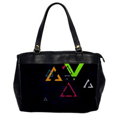 Abstract Triangles Resize Office Handbags