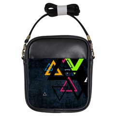Abstract Triangles Resize Girls Sling Bags